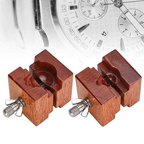 OKMIJN Uhrenhalterklemme, hölzernes Uhrengehäuse Uhrwerkhalterklemme Uhr Reparaturzubehör (B-1),Werkzeugkoffer