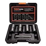 Get THINKWORK Twist Socket Set Lug Nut Remover Extractor Tool - 5-Piece Metric Bolt and Lug Nut Extractor Socket Tools Just for $25.97