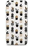 Case Warehouse Pequeño Mixta Maceta Modelo Plantas Slim Funda para iPhone 6 TPU Protector Ligero Phone Protectora con Botánico Plantas Cactus De Boho Dibujado