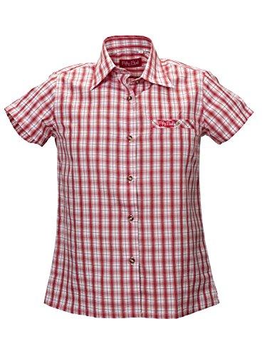 Fifty Five Damen Regular Fit Bluse Lori - mit Quick-Dry und UV-Schutz, Mehrfarbig (Red/Wite Check 099), 38 (Herstellergröße: 38)