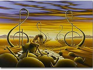 REDWPQ Art Mural Photo Affiche inspiré - célèbre Peinture Art Toile Affiche Impression surréaliste Image Abstraite pour Sa...