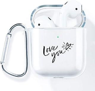 AKABEILA Airpods Case Cover, Compatibel met Apple Airpods 2nd Hoesje Siliconen Helder met Design met AirPods 1st [Front LE...