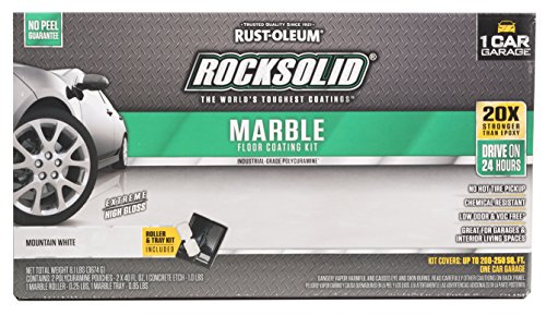 Rust-Oleum 306321 Rock-Solid Marble Garage Floor Coating Kit, Mountain White