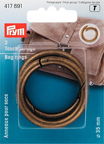 Prym Metal Bag Split Rings Brass - per pack of 2