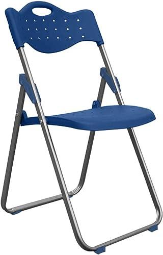 Jizhen Chaise Pliante à la Maison Chaise de Salon Chaise de Salon Portable Chaise en Plastique Conférence Formation Bureau Ordinateur Chaise Tabouret Dossier Chaise