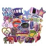 Ins Rainbow Sticker Graffiti Starry Sky Laser Equipaje Trolley Sticker Skateboard Guitar Phone Sticker 73PCS