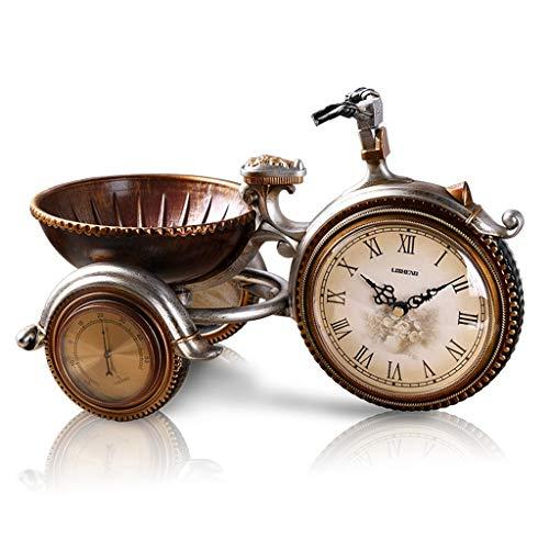 Reloj ^Soporte de escritorio europeo retro decoración de mesita de noche de movimiento silencioso sala de estar estudio de resina decoración mesa...