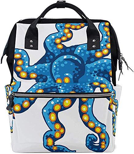 Daypacks Octopus Design Print Verzorgingsluiertas, luiertas, waterdicht, reizen, mummierugzak, mummietas, papa baby, stijlvolle muti-functie, moeder, draagtassen, rugzak, grote capaciteit