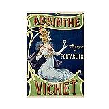 DR35 Vintage Retro Drink Absinthe Vichet Alkohol Poster