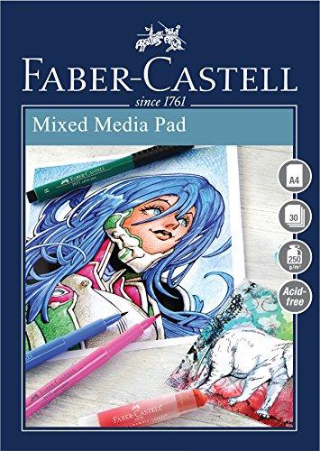 Faber-Castell Creative Studio Mischtechnikblock, A4 250 g / m² Block mit 30 Blatt - Ringbinder
