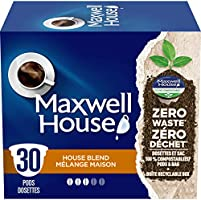 Maxwell House French Vanilla Coffee 100% Compostable Pods, 12 Pods (6 Boxes of 12 Pods)