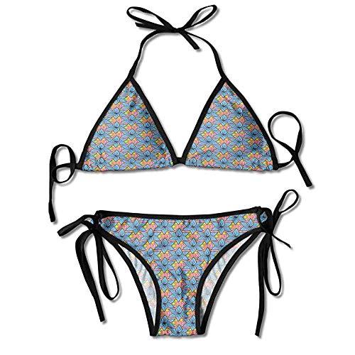 Ragazze donne Nuoto Costume due pezzi Bikini Set Swimsuit Swimwear Taglia UK 8-14