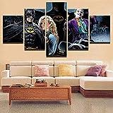 5 Piezas Cuadro sobre Lienzo Imagen Kim Basin Batma. Impresión Pinturas Murales Decor Fotos para Salon Dormitorio Baño Comedor Regalo 80X150Cm