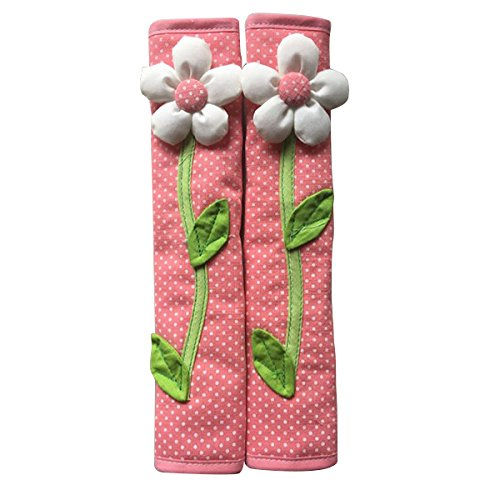 Fltaheroo 2PCS Pastoral Flower Polka Dot Door/Refrigerator Handle Cover Nevera Door Handle Gloves DecoracióN para el Hogar Accesorios de Cocina Rosado