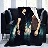 Team Damon Stefan Vampire Diaries Guys Salvatore Brothers Micro Fleece Blanket Vampire Ornaments Tv Show Merch Fans Gifts Soft Lightweight Plush Throw Blanket for Bed Couch Living Room 50'x40'