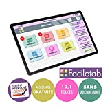 FACILOTAB Tablette simplifiée L Galaxy - WiFi/4G - 32 Go - Android 9 - Marque - Interface Seniors