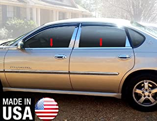 Made in USA! Works with 2000-2005 Chevy Impala 4PC Stainless Steel Chrome Window Sill Trim Overlay