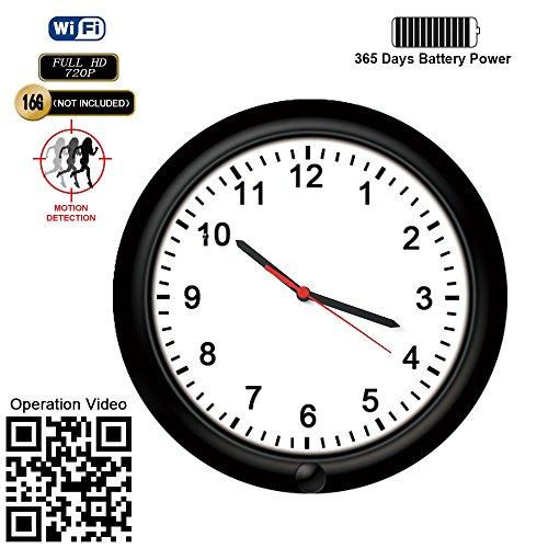 wireless network hidden camera wall clock