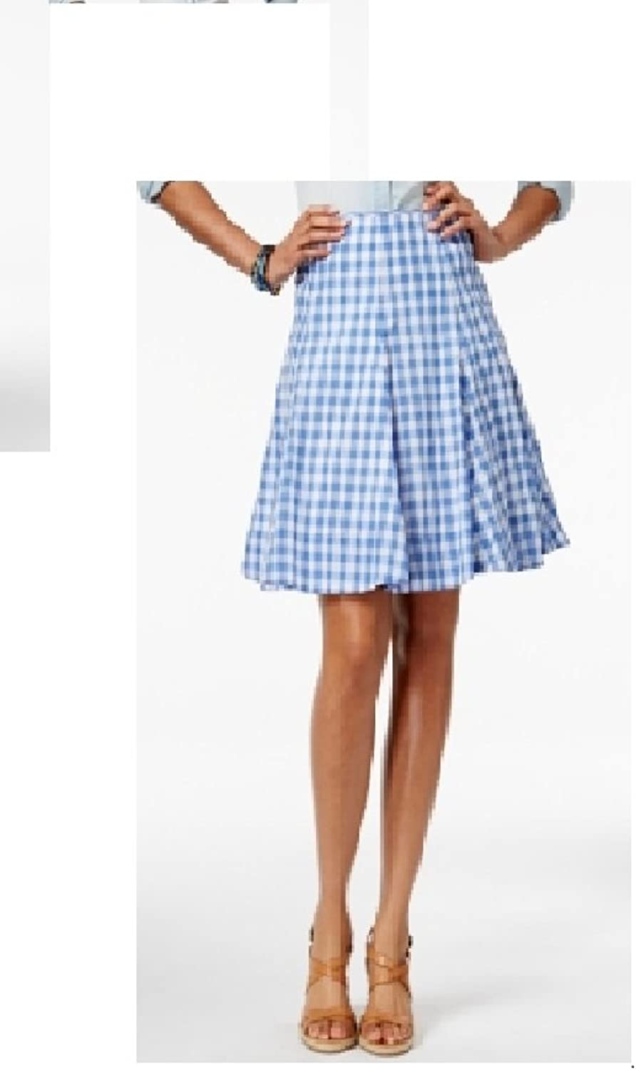 American Living Womens ALine Plaid Fit & Flare Skirt