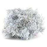 Euro Palms 83500414 - Espumillón para árbol de Navidad (Espeso, 270 cm), Color Blanco