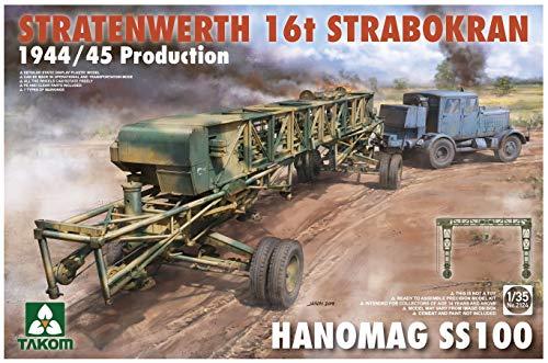 TAKOM TAK2124 Stratewerth 16t Strabokran + Hanomag SS100 1:35, Multicolore