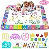 Aqua Magic Mat - Kids Painting Writing Doodle Board Toy - Color Doodle Drawing Mat Bring Magic Pens...