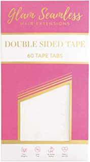 Double Sided Tape for Hair Extensions, Replacement Tape for Tape in Hair Extensions - 60 Tabs Pack