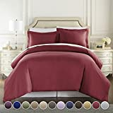 Danjor Linens Hotel Luxury 3pc Duvet Cover Set-1500 Thread Count Egyptian Quality Ultra Silky Soft Premium Bedding Collection-King Size Camel