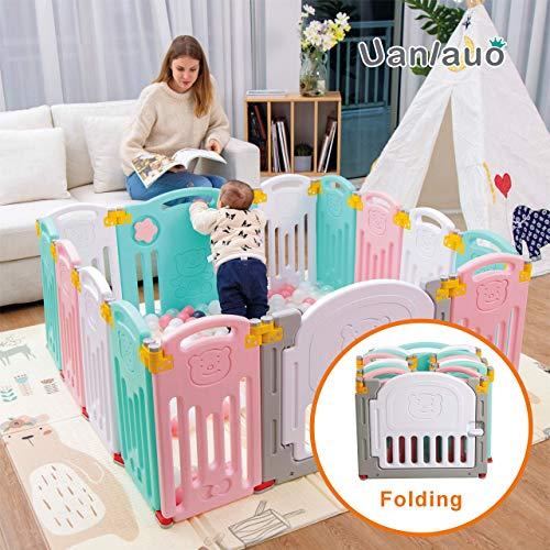 Faltbarer Baby-Laufstall Kids Activity Center Sicherheit Spielplatz Home Indoor Outdoor Neue Version