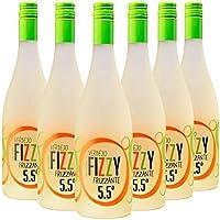 Fizzy Frizzante Vino Espumoso Verdejo, Volumen de Alcohol 5.5% - Pack 6 Botellas x 750 ml - Total: 4500 ml