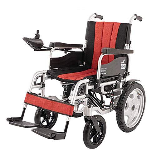 DLY Älterer Behinderter Leichter Rollstuhl-Elektrischer Faltender Rollator-Prüfer und Bremsen für Ältere Behinderte und Untaugliche Benutzer, b, b