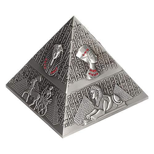 Portavasos Sala de estar escritorio oficina cenicero metal cenicero innovador decoración regalos fumar set de fumar egipcio-faraón-pirámide adornos decoración (Color : 1)
