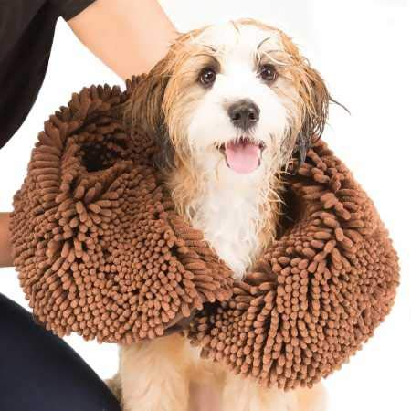 Dog Gone Smart Dirty Dog Shammy towel with hand pockets