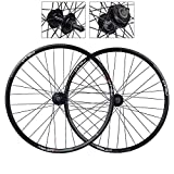 <span class='highlight'><span class='highlight'>CHUDAN</span></span> 20/26 Inch Bike Wheelset MTB Bicycle Rear Wheel Double Walled Aluminum Alloy Mountain Bike Wheels Disc Brake Quick Release Bicycle Rim 7 8 9 Speed Cassette 32 Holes,26in