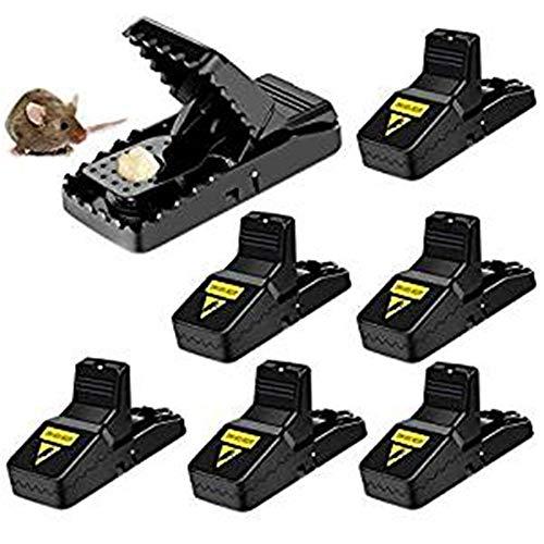 Felly Trampa Ratones, Trampa para Ratas, Set de 6 Mouse Trap Alta sensibilidad Ratoneras Trampa, Fácil de Establecer Control Reutilizable, Seguro - Efectivo - Sanitario- Negro