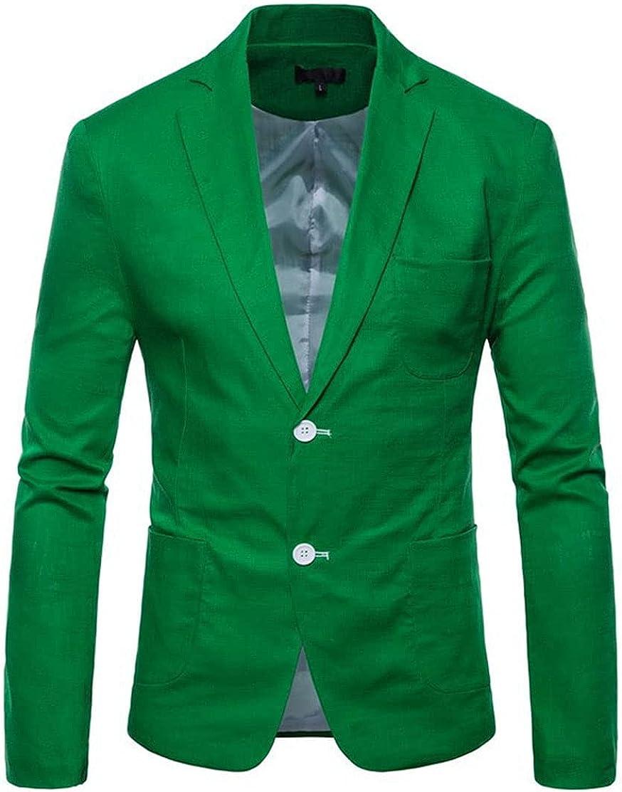 Mens Suit Blazer Slim Fit Wedding Business Blue Suit Jacket for Men Big and Tall