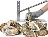Stainless Steel Oyster Shucker - 5892 Oyster Knife Set Heavy Duty Oyster Sheller Practical Tool for Hotel Buffets and Homes and Gift