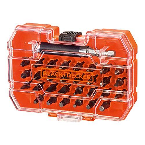 Black+Decker A7228-XJ A7228-XJ-Juego de 31 Piezas para Atornillar con Adaptador magnético