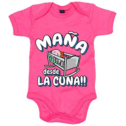 Body bebé Maña desde la cuna del Zaragoza para aficionado al fútbol - Rosa, Talla única 12 meses