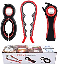 ASTOFLI Jar Opener, 4&5&6 in 1 Can Opener Set, Multi Function Can Opener, Bottle Opener Kit with Silicone Handle Easy to Use for Children