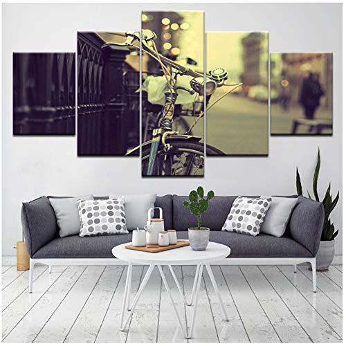 Vintage fiets moderne prints schilderij thuis slaapkamer decoratie modulaire kunst canvas muur foto's hete verkoop posters-40x60x2 40x80x2 40x100cm geen frame