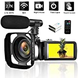 Best Blogging Cameras - Camcorder 2.7K Vlogging Camera WiFi Video Camera Night Review