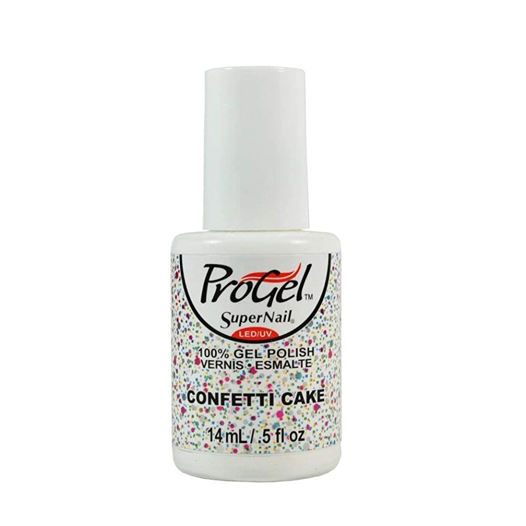アグネスグレイ横うつSuperNail ProGel Gel Polish - Confetti Cake - 0.5oz / 14ml