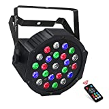 Stage Light, LaluceNatz 24 LED RGBW Par Light Battery Powered, 8 Channels Sound Activated Dj Light, Controlled by IR Remote DMX for Wedding, Church, Festivals, Christmas, Party, Stage Lighting