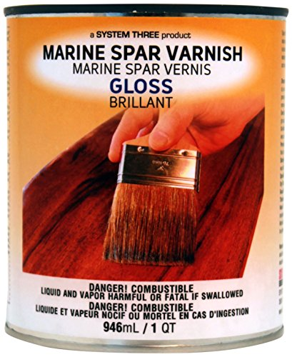 System Three 1850S16  Clear Marine Spar Urethane Varnish Coating, 1 quart Can,Gloss