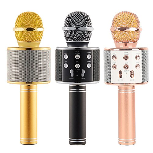 NEW WS-858 Wireless Handheld Microphone KTV Karaoke Stereo USB Player Bluetooth MIC