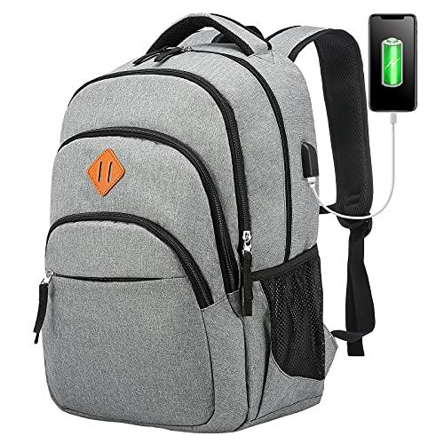 LOVEVOOK Rucksack Herren Arbeit 15,6 Zoll Laptop Rucksack Groß mit USB Ladeanschluss, Wasserdicht Schulrucksack Daypack für Uni Schule Reise