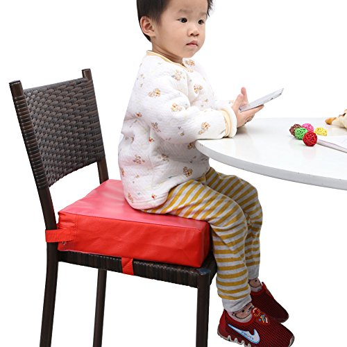Zicac Kids#039 Dining Chair Heightening Cushion Dismountable Adjustable High Chair Booster Seat Pads Red