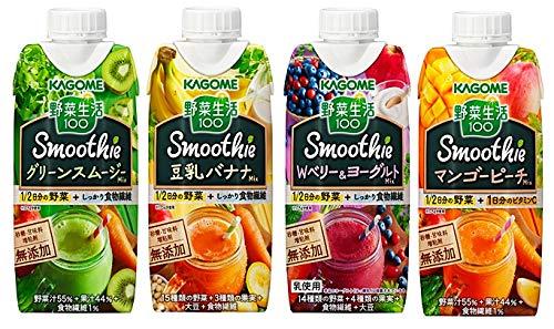 カゴメ スムージー野菜生活100 Smoothie 4種類各3本 12本入り (商品は新発売の商品などは入り写真と異なります