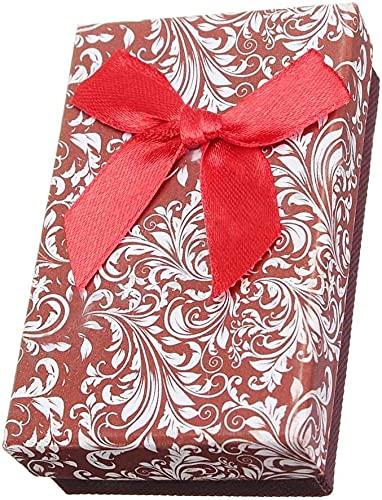 Guuisad 10pcs joyería Cajas de Regalo Collar Colgante Pulsera Anillo Pantalla de Almacenamiento Soporte de Almacenamiento Estilo Rojo